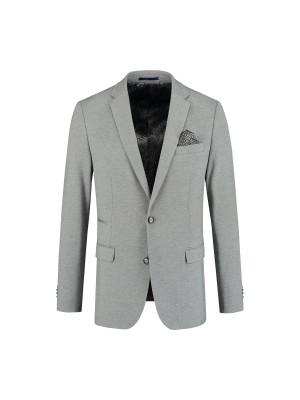 colbert jersey uni grijs 0074| GENTS.nl | Hoogste kwaliteit voor de laagste prijs