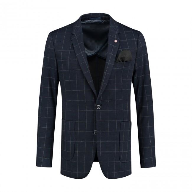 Colbert jersey ruit blauw 0121| GENTS.nl | Hoogste kwaliteit voor de laagste prijs