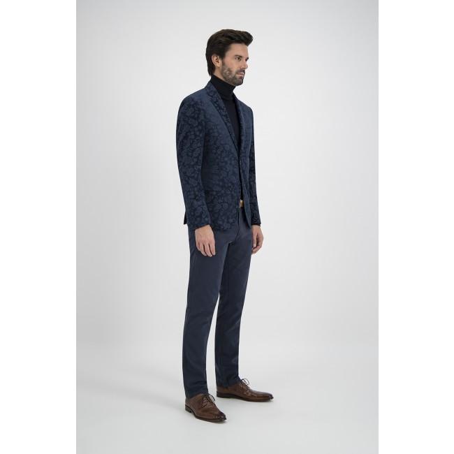 Colbert velvet print blauw 0125| GENTS.nl | Hoogste kwaliteit voor de laagste prijs