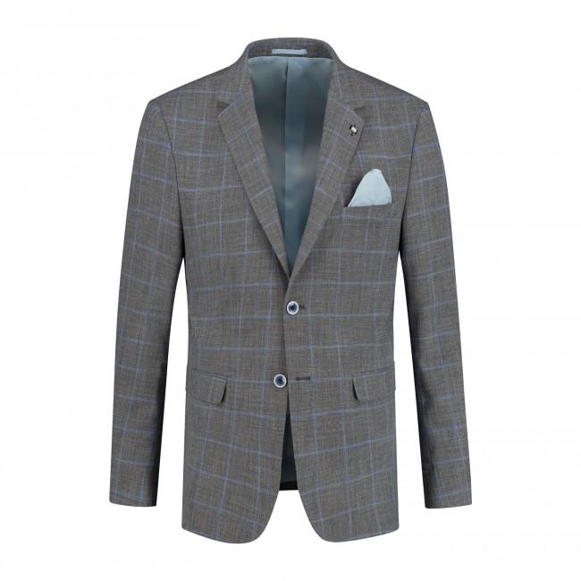 Colbert ruit grijs blauw 0145| GENTS.nl | Hoogste kwaliteit voor de laagste prijs