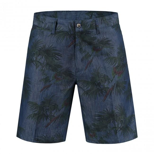 Bermuda denim print blauw 0081| GENTS.nl | Hoogste kwaliteit voor de laagste prijs