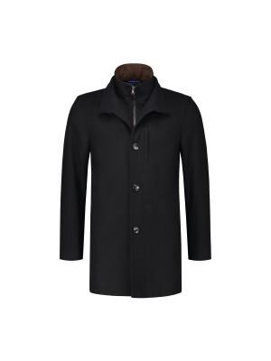 Mantel fur zwart 0054
