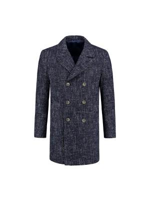 Coat blauw gemeleerd 0069| GENTS.nl | Hoogste kwaliteit voor de laagste prijs