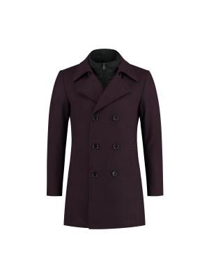 gents  Coat 2-rij donkerrood 0075