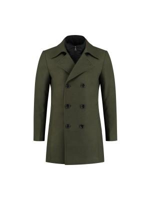 gents Jassen Coat 2-rij groen 0076