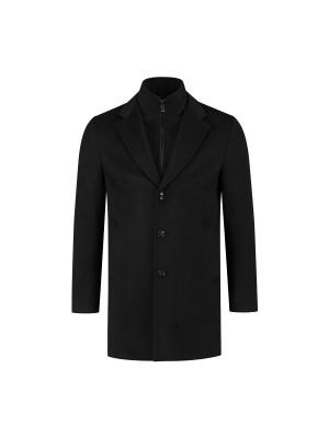 Coat windvanger zwart 0079