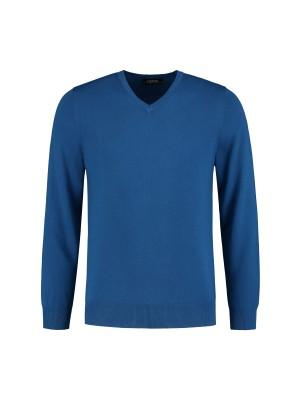 gents Truien&Vesten V-neck Royal Blue 0074