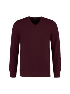 gents Truien&Vesten V-neck Bordeaux rood 0075