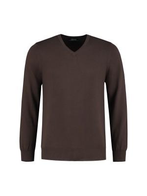 Gents V-neck bruin 0077