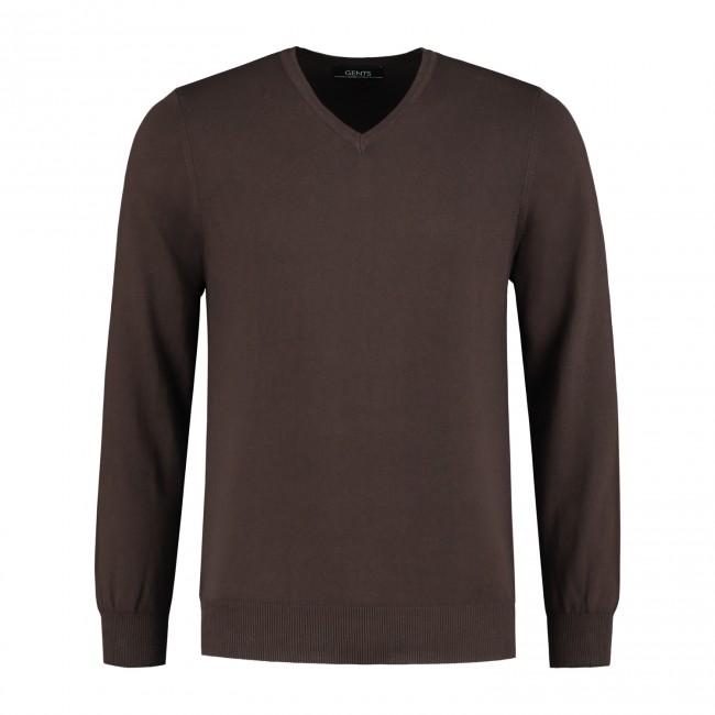 Gents V-neck bruin 0077| GENTS.nl | Hoogste kwaliteit voor de laagste prijs