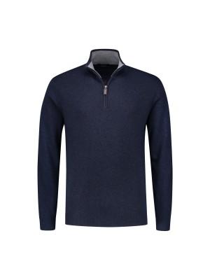 Trui Halfzip blauw 0087  GENTS.nl   Hoogste kwaliteit voor de laagste prijs