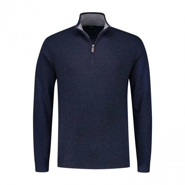 Trui Halfzip blauw 0087| GENTS.nl | Hoogste kwaliteit voor de laagste prijs