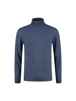 gents Truien&Vesten Coltrui grijsblauw 0098