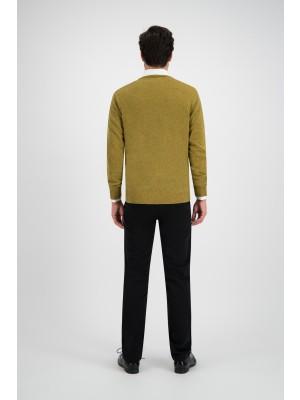 Trui ronde hals mosterd wol 0109| GENTS.nl | Hoogste kwaliteit voor de laagste prijs