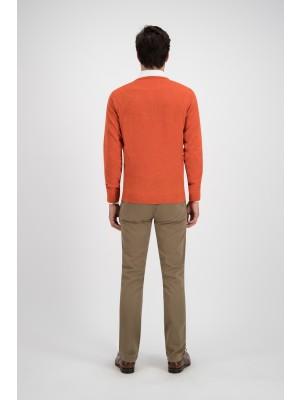 Trui ronde hals brique wol 0110| GENTS.nl | Hoogste kwaliteit voor de laagste prijs