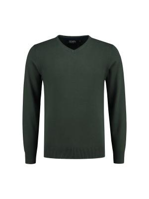 V-neck melange groen 0116