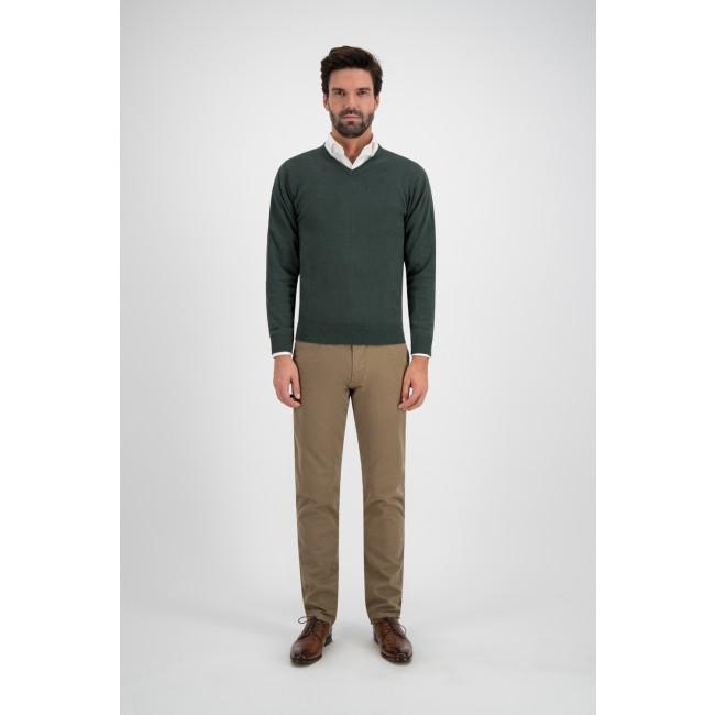 V-neck melange groen 0116| GENTS.nl | Hoogste kwaliteit voor de laagste prijs