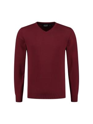 V-neck katoen rood 0128| GENTS.nl | Hoogste kwaliteit voor de laagste prijs