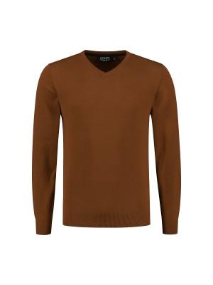 V-neck katoen oker 0129| GENTS.nl | Hoogste kwaliteit voor de laagste prijs