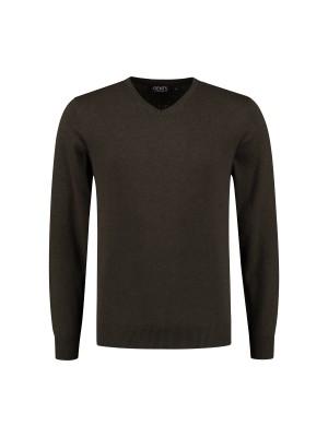 V-neck katoen donkergroen 0130| GENTS.nl | Hoogste kwaliteit voor de laagste prijs