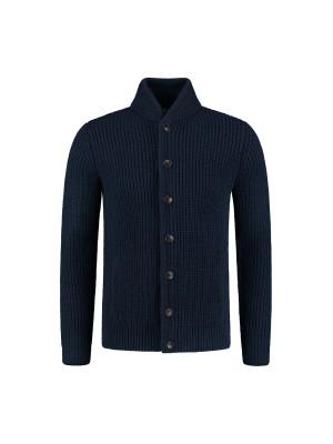 Vest knopen blauw 0139