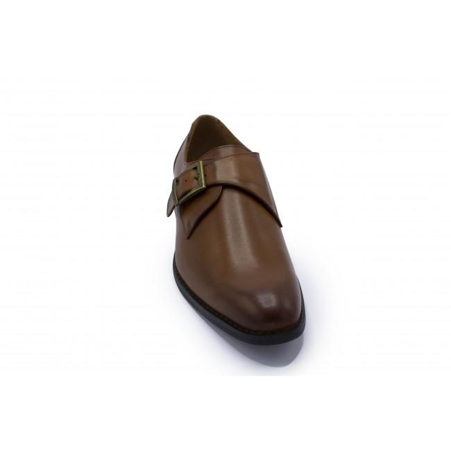 Leder monkstrap tan 0039| GENTS.nl | Hoogste kwaliteit voor de laagste prijs