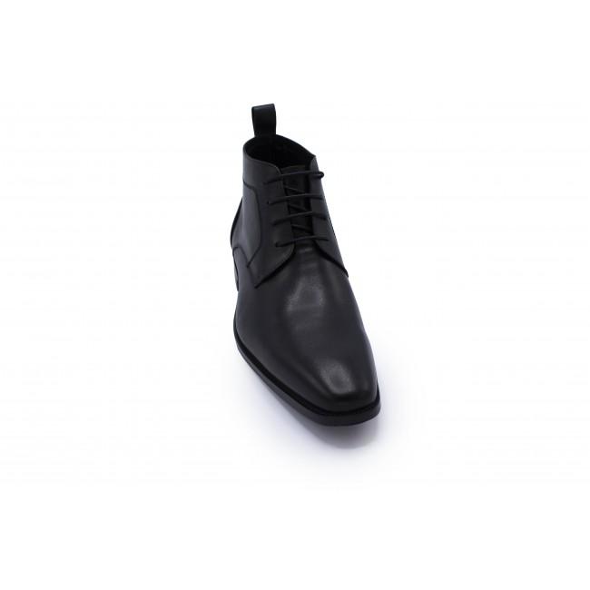 Veterschoen halfhoog zwart 0052| GENTS.nl | Hoogste kwaliteit voor de laagste prijs