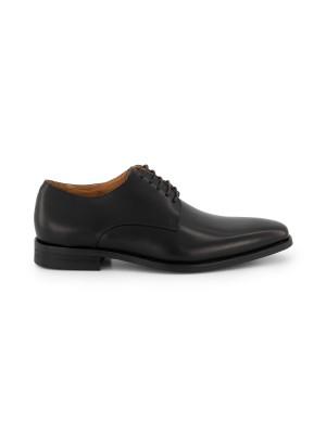 gents Schoenen Veterschoen glad zwart 0059
