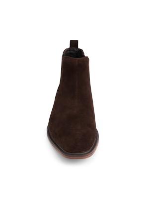Chelsea boot suede bruin 0061