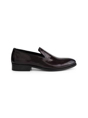 gents Schoenen Loafer lak bordeaux 0071