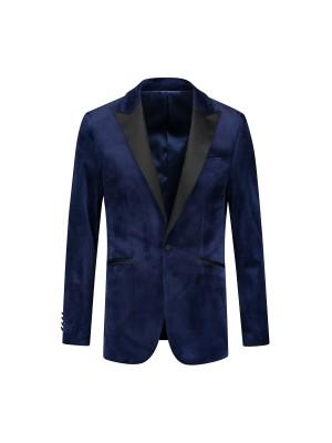Dinnerjacket velvet blauw 0047| GENTS.nl | Hoogste kwaliteit voor de laagste prijs