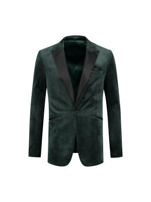 no label Gala Dinnerjacket velvet groen 0052