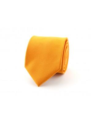 gents Stropdassen Stropdas zijde uni NOS oranje 0161