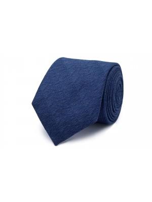 Stropdas zijde blauw patroon 0210