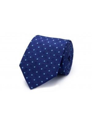 Stropdas Zijde blauw vierkant 0217
