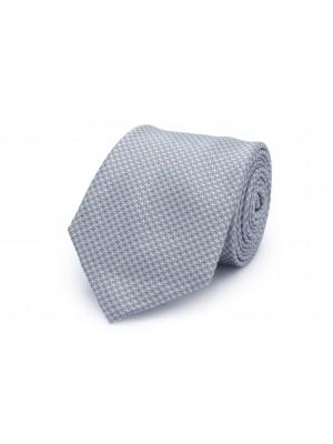Stropdas Zijde patroon grijs 0218