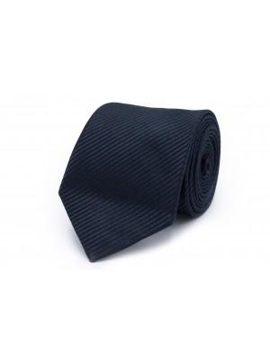 Stropdas Zijde blauw-zwart 0222