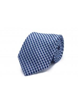 Stropdas Zijde blauw vierkant 0225