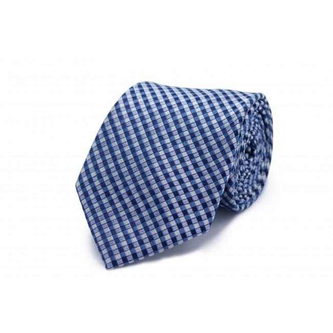 Stropdas Zijde blauw vierkant 0225| GENTS.nl | Hoogste kwaliteit voor de laagste prijs