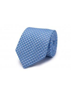 Stropdas zijde lichtblauw patroo 0250