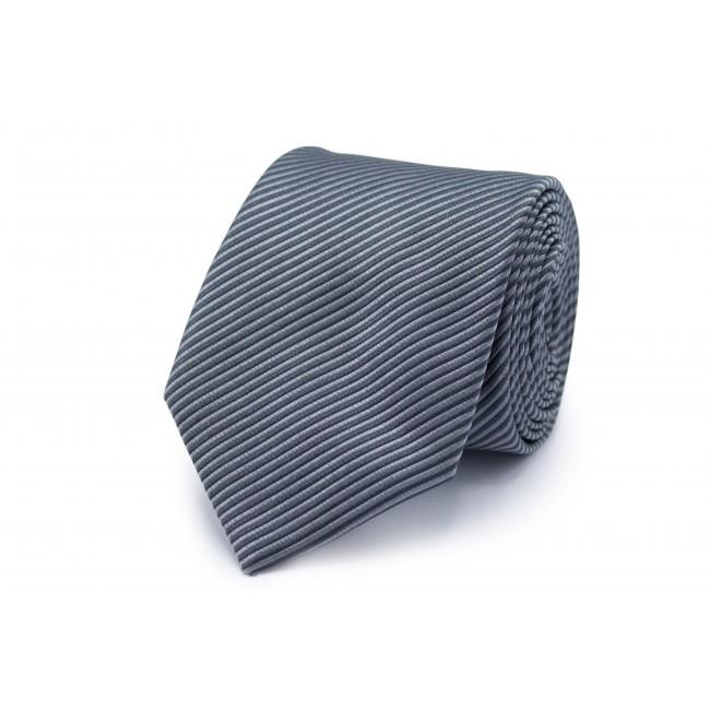 Stropdas zijde grijs streep diag 0251| GENTS.nl | Hoogste kwaliteit voor de laagste prijs