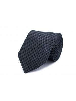 Stropdas zijde zwar-grij patroon 0252