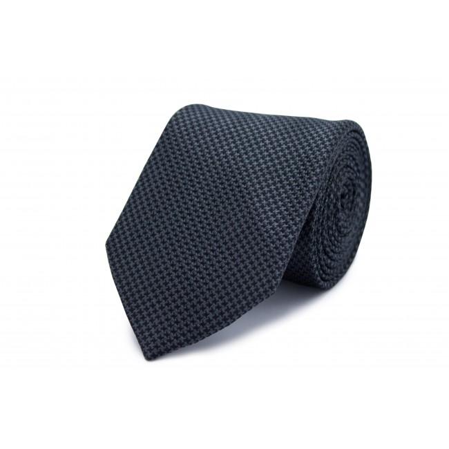 Stropdas zijde zwar-grij patroon 0252| GENTS.nl | Hoogste kwaliteit voor de laagste prijs