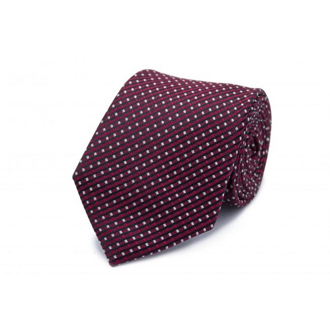 Stropdas zijde ro-wi-zwart patro 0259| GENTS.nl | Hoogste kwaliteit voor de laagste prijs