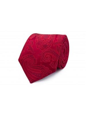 Stropdas zijde rood patroon 0261
