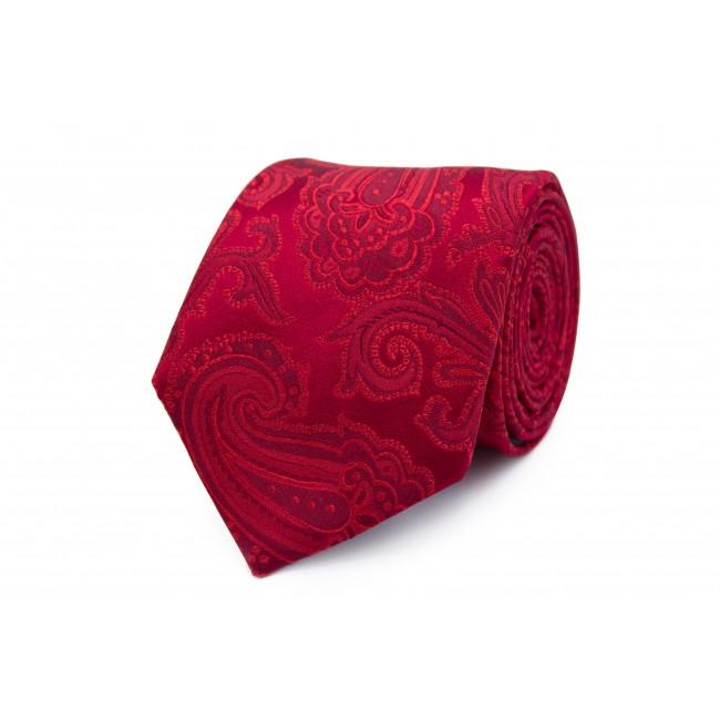 Stropdas zijde rood patroon 0261| GENTS.nl | Hoogste kwaliteit voor de laagste prijs