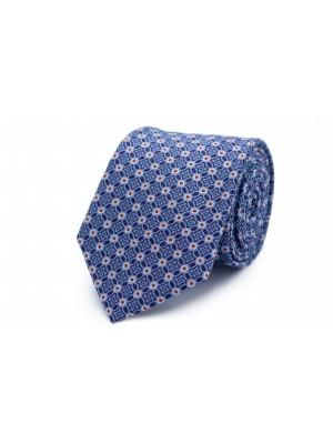 Stropdas zijde lichtblauw patroo 0265| GENTS.nl | Hoogste kwaliteit voor de laagste prijs
