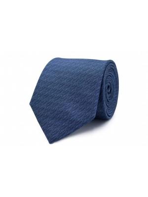 Stropdas zijde blauw structuur 0278