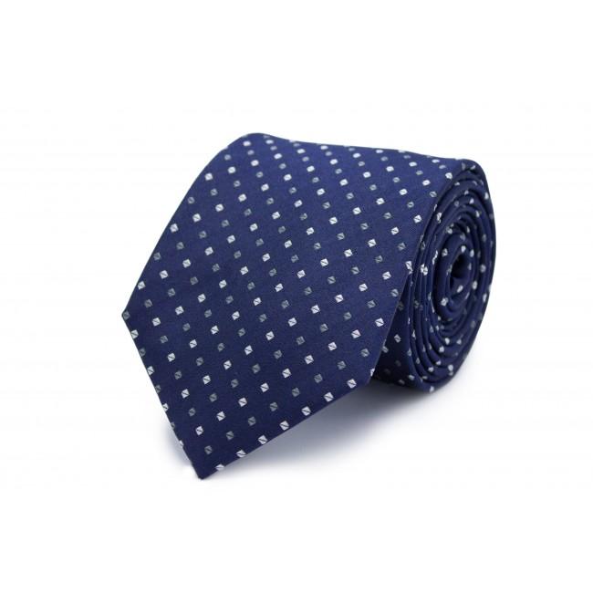Stropdas zijde blauw stip 0282| GENTS.nl | Hoogste kwaliteit voor de laagste prijs