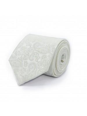 Gilet paisley ecru met stropdas
